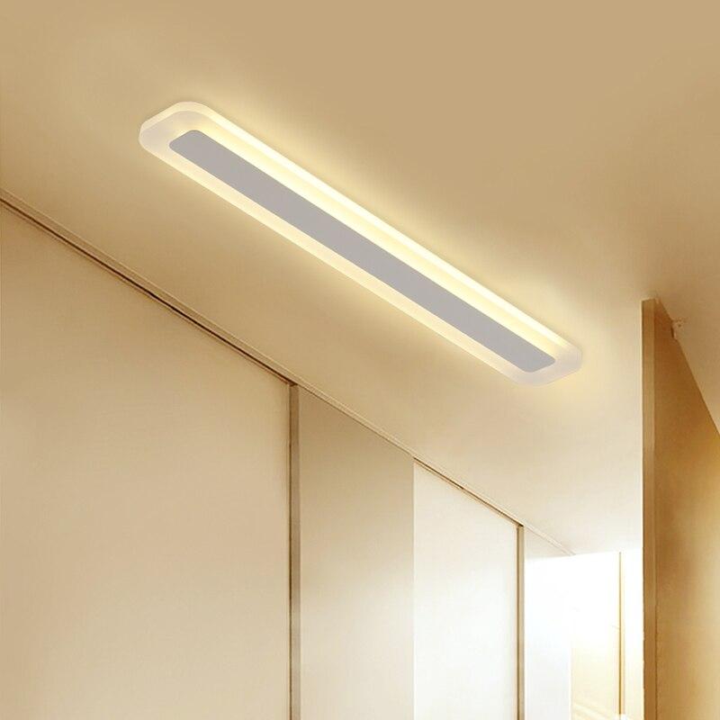 Lamparas de techo LED de alto brillo minimalismo moderno luces de techo rectangulares dormitorio sala de estar aisl lámpara de techo