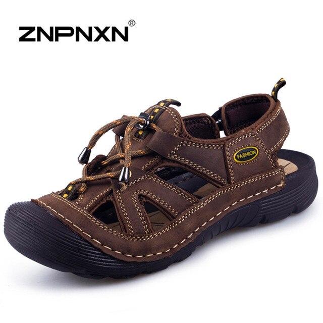 Hot Sale Men Sandals Leather Sandals Men Summer Shoes Men Beach Sandals Sandalias Hombre
