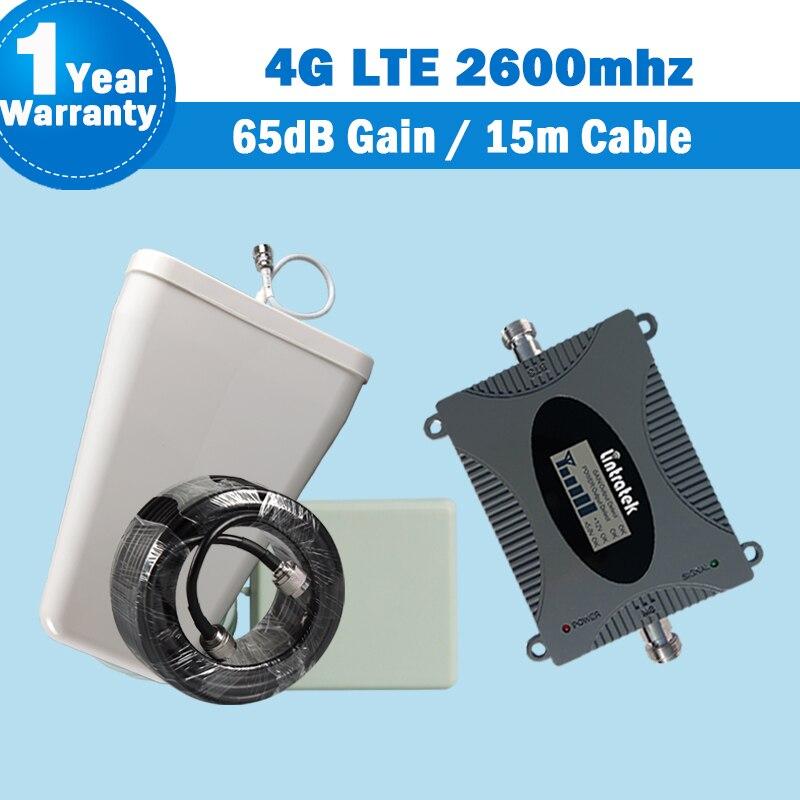4G 2600 mhz bande 7 Lintratek amplificateur de Signal de téléphone portable 4G LTE 2600 mhz (bande 7) LCD affichage réseau répéteur de Signal amplificateur S28