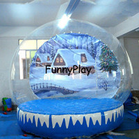 Inflatable Christmas snow globe,new years eve party supplies couple photo resin inflatable snow globes ball for event