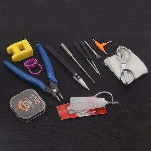 Image 5 - E XY Electronic Cigarette DIY Tool Kit Coil jig Tweezers Pliers for RDA RDTA RTA E Cig Accessories Vape   Bag Coiling Kit