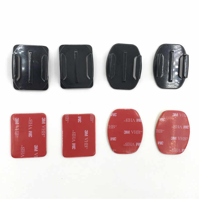 Аксессуары наклейка плоская изогнутая клейкая VHB крепление для серфинга surfaced шлемы для HD Hero 3 + 4 для Xiaomi Yi для SJCAM