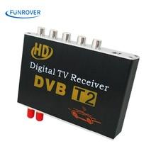 Free shipping dual antenna High Speed Car HD DVB-T2 Mobile cars Digital TV Turner Receiver auto tv box dvb t2 120-150KMH russia