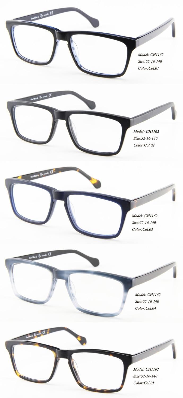Klassische Hand Rahmen Acetat Wonder De Sol Bril Männer Optische Augen made Gafas Gläser YxqpwEnnt