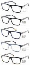 Ojos wonder hombres clásico hecho a mano acetato marco marcos de los vidrios ópticos Gafas de sol Bril