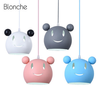 Nordic Mickey Pendant Light for Children's Room Kids Bedroom Lamp Modern Led Hanging Lights Fixtures Home Loft Decor Luminaire
