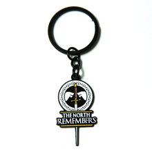 Game of Thrones Keychain Key Chains Son of Ice and Fire House Stark of Winterfell Pendant Fashion Jewelry Gift Keyring(China)