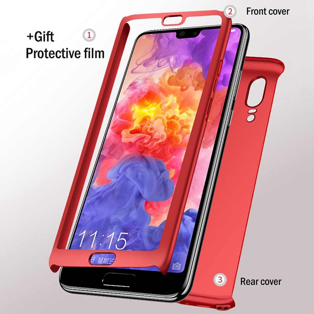 Luxury 360 Full Case For Huawei Honor 8C 8X Max Note 10 Lite 7X 6X 7A 7C V9 Play 8 9 Lite Case Cover Shockproof Case With Glass
