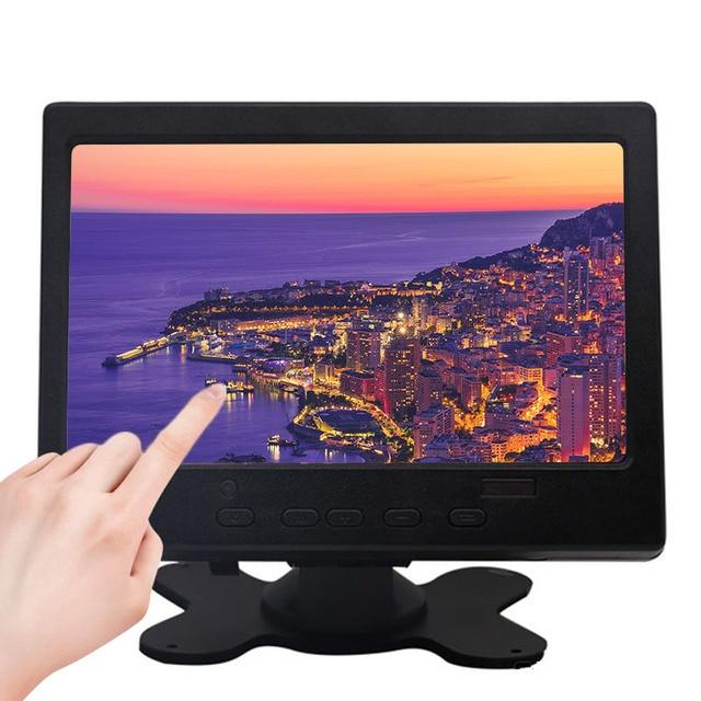 "7 ""LCD מגע צג עבור פטל Pi HDMI + VGA + AV ממשק תצוגת מגע קיבולי מסך מודול רכב גיבוי הפוך"