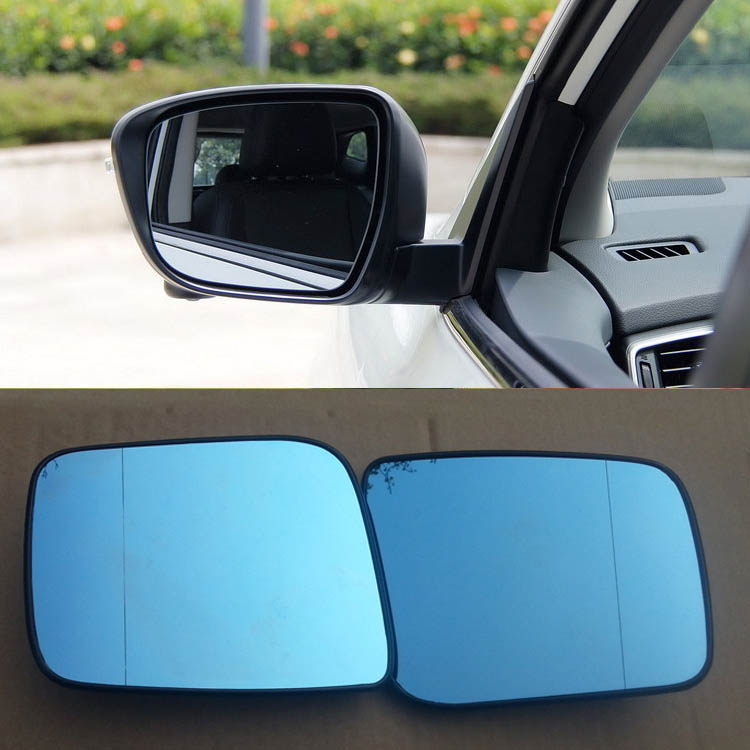 Savanini 2pcs New Power Heated w/Turn Signal Side View Mirror Blue Glasses For Nissan Qashqai