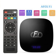 Nowy Android 8.1 Smart TV Box A95X F1 procesor Amlogic S905W Quad Core 2GB 16 GB, wsparcie H.265 4K 2.4GHz WiFi Media Player Set-Top Box(China)