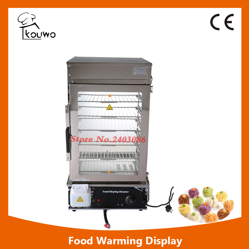 KW-600L stainless steel 6 tier food warmer machine bun steamer cooker  food heater for sales 220v 600w 1 2l portable multi cooker mini electric hot pot stainless steel inner electric cooker with steam lattice for students