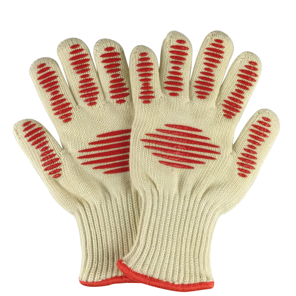 High temperature resistant gloves 350 degrees BBQ baking outdoor barbecue insulation gloves microwave safety gloves work gloves