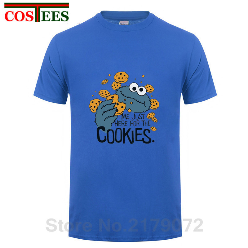 c48d080d0f3 Product name  Funny Me just here for cookies T Shirt Men Novelty Sesame  Street Cookie Monster T-shirt Man Brand Clothing mens fitness Tops Tee
