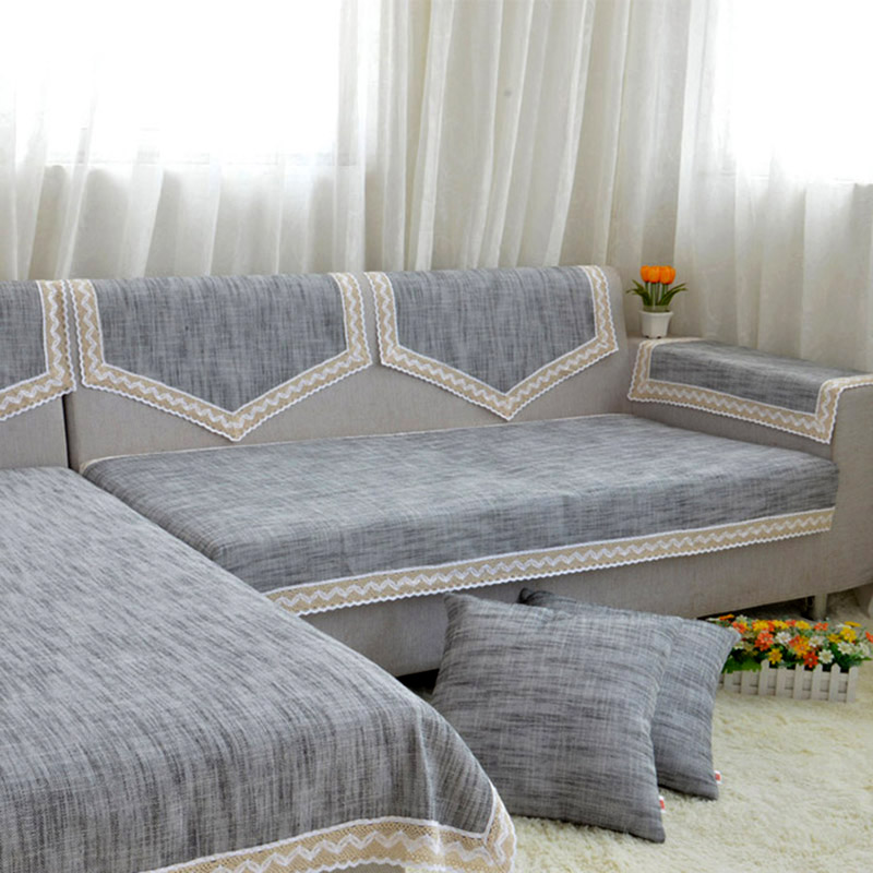 Cotton Sofa Slipcover Furniture Couch Cover Cushion Home Covers Protector Non Slip Hemp In From Garden On