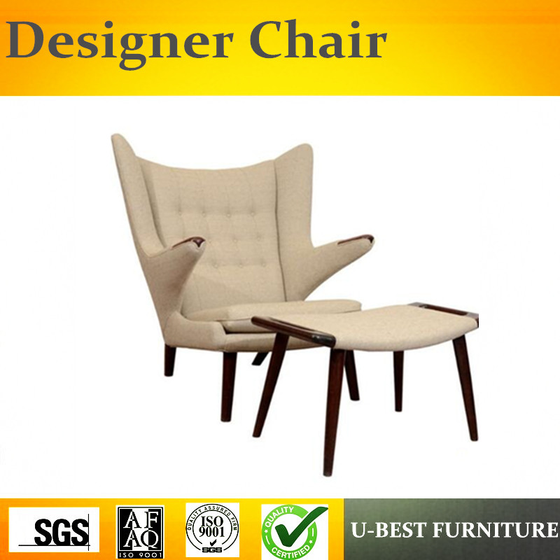 U Best Nordic Leather Fabric Lounge Chair Recliner Living Room Furniture Bedroom Leisure Chaise Sofa