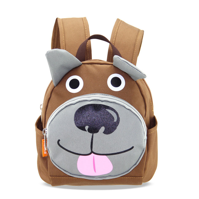 Cute Anti lost Backpack Dog Fox Bags Baby Boys Kindergarten Book Bag Kids School Bags For