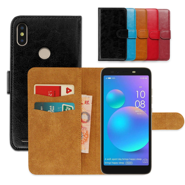 finest selection 9724e 580e0 US $3.99 20% OFF Luxury PU Leather Flip wallet case for Tecno Camon i Sky 2  Exclusive Slip resistant Ultra thin Phone Cover,book case-in Wallet Cases  ...