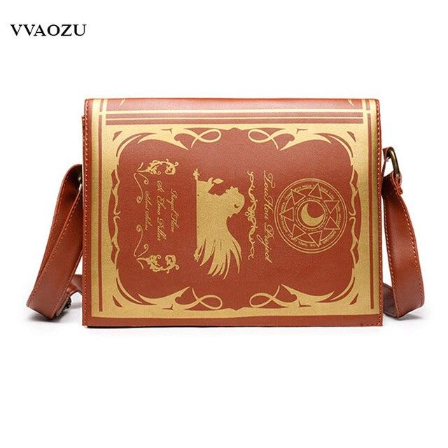 963e5e29ed2 Anime Touhou Project Cosplay Girl Messenger Bag Shoulder Handbag Magic  Dictionary Book Style Retro Vintage Lolita