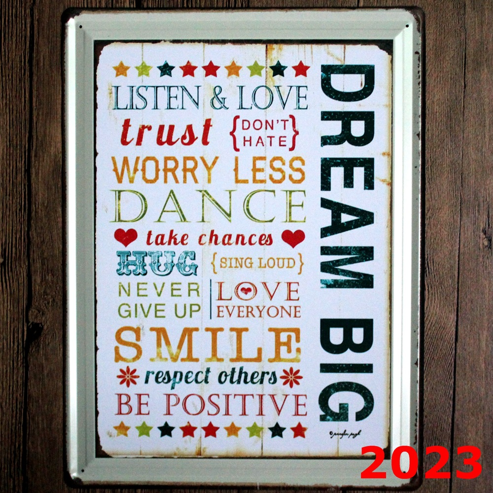 DREA BIG Direct selling large Vintage license plate Wall art craft metal painting vintage Iron for bar home decor 30x40 cm