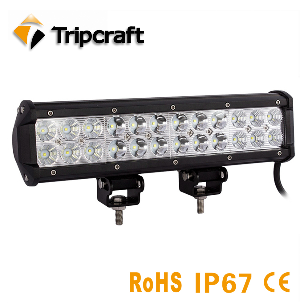 TRIPCRAFT 72W <font><b>LED</b></font> LIGHT BAR combo beam 12&#8243; Worklight for Offroad Car Truck <font><b>rampe</b></font> 4&#215;4 ATV SUV 12V 24V 6500K auto driving fog lamp