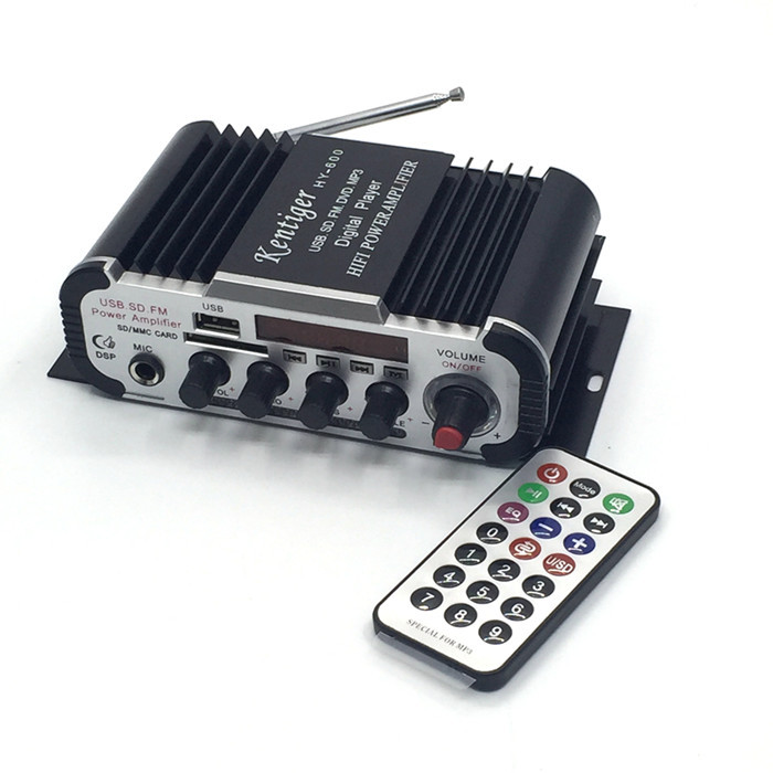 With 6.5mm Mic In Port Mini Karaoke Amplifier DC 12V USB\SD MP3 Player DAC FM Radio Power Amplificador цены