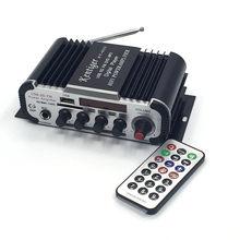KENTIGER-HY-600 de Karaoke con micrófono de 6,5mm, Mini Amplificador de potencia de Radio FM, DAC, reproductor MP3, USB/SD, 12V de CC