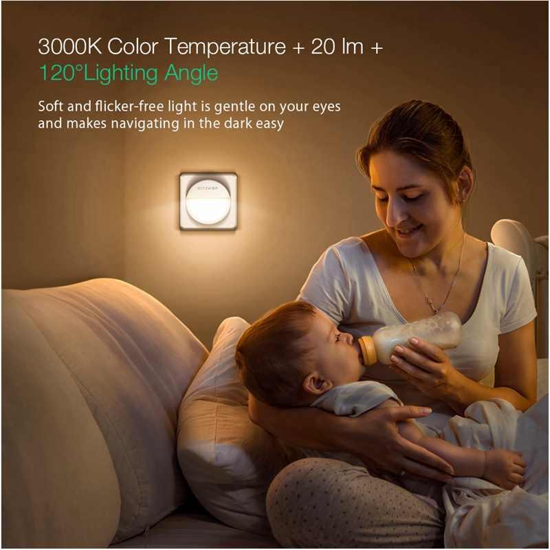 BlitzWolf BW-LT10 المنزل الذكي ضوء مصباح لجهاز الاستشعار ليلا 3000K درجة حرارة اللون 20 لومينز الإضاءة 120 درجة زاوية مصباح الليل