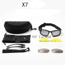 X7 Men Military Goggles Army Motorcycle Sunglasses With 4 Lens Shooting Eyewear For Airsoft Hunting