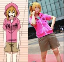 Actores Mekakucity Kagerou Proyecto Anime Cosplay MOMO Traje Ropa Diaria Completa Set coat + shirt + pants
