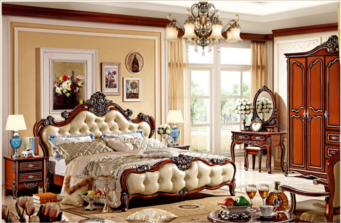 US $890.0 |Italian Furniture Prices Antique Bedroom bedroom furniture sets  luxury-in Beds from Furniture on AliExpress
