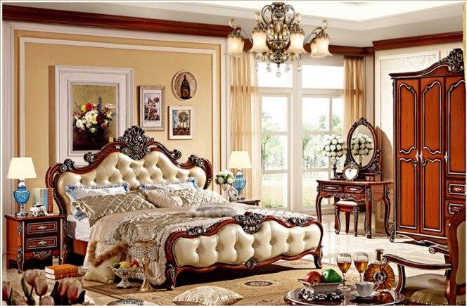 US $890.0 |Italienische Möbel Preise Antiken Schlafzimmer schlafzimmer  möbel sets luxus-in Betten aus Möbel bei AliExpress