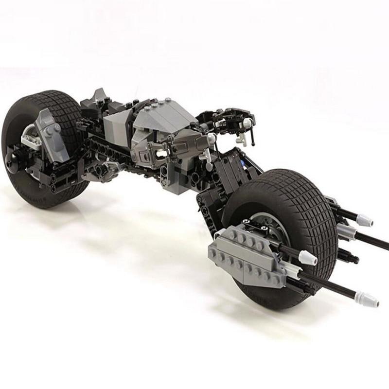 7115 Decool Batman Chariot Superheroes BAT-POD Model Building Blocks Classic Enlighten Figure Toys For Children Compatible Legoe