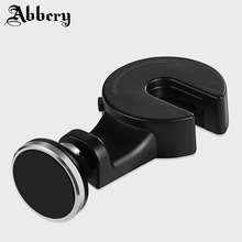 Abbery Car Headrest Mount Magnet Holder for iPhoneX 7plus Automobiles Support for Mobilephone Tablet PC Magnetic Suporte Celular