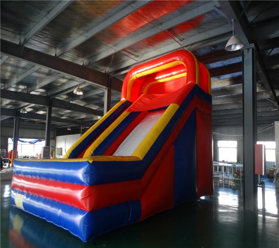 Hot sale Biru merah PVC slide tiup slide slide tanah berkualitas - Hiburan - Foto 4