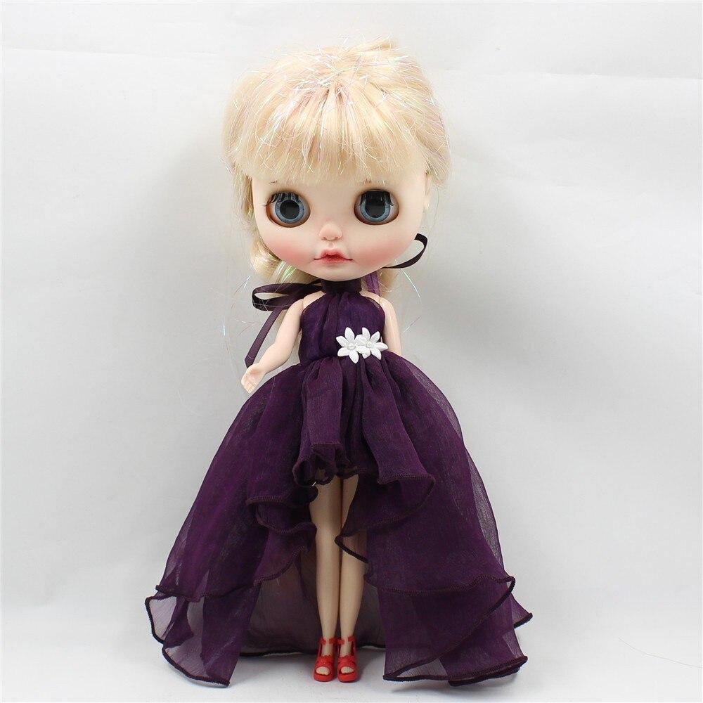 Neo Blythe Doll Chiffon Dress with Flower 13