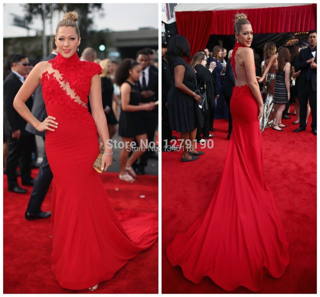 2017 Newest Style Evening Dress Custom Made Red Women Mermaid Celebrity Dresses Vestifdos De Festas Longo
