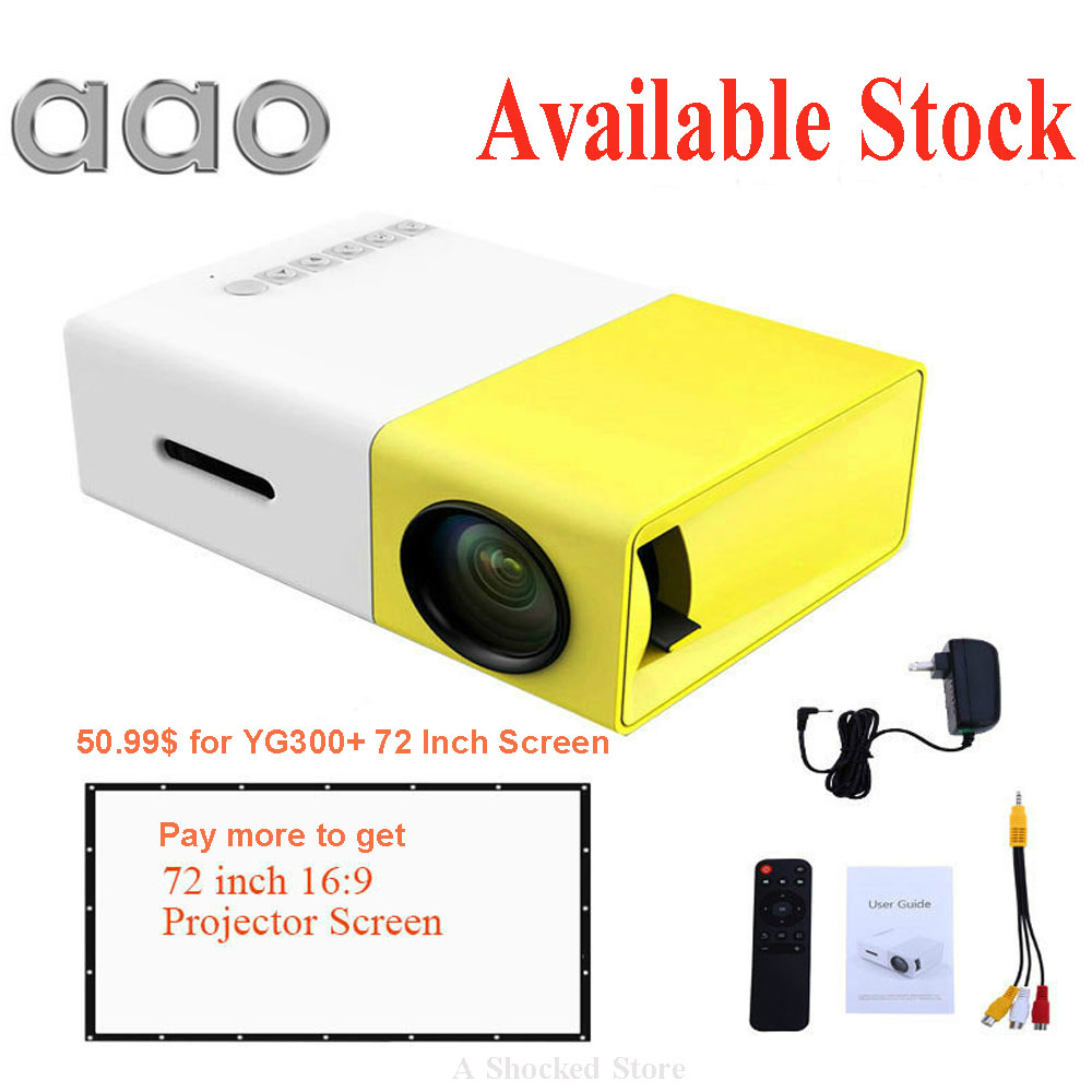 Оригинальный дропшиппинг YG300 светодиодный Портативный проектор 500LM 3.5 мм 320x240 HDMI USB YG-300 мини-проектор для домашнего yg 300 проектор