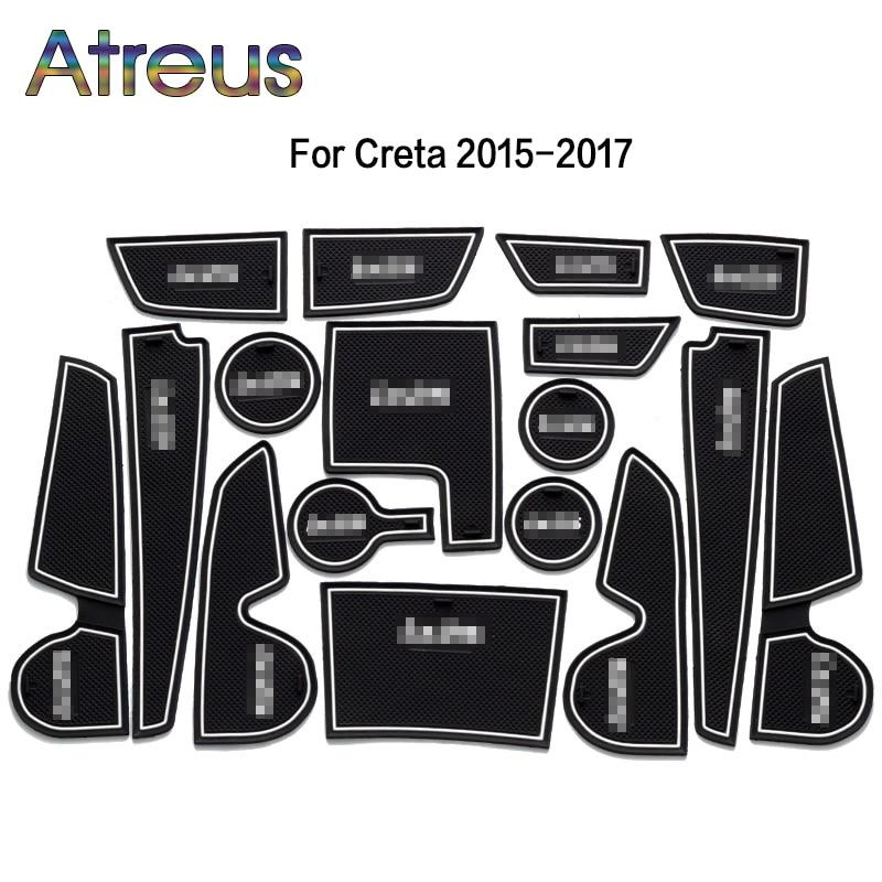 Auto Innen Tasse Matte Tür Tor Slot Pad Aufkleber Für Hyundai Solaris 2 Ix35 Tucson Zubehör für Hyundai Creta IX25 2016 2017
