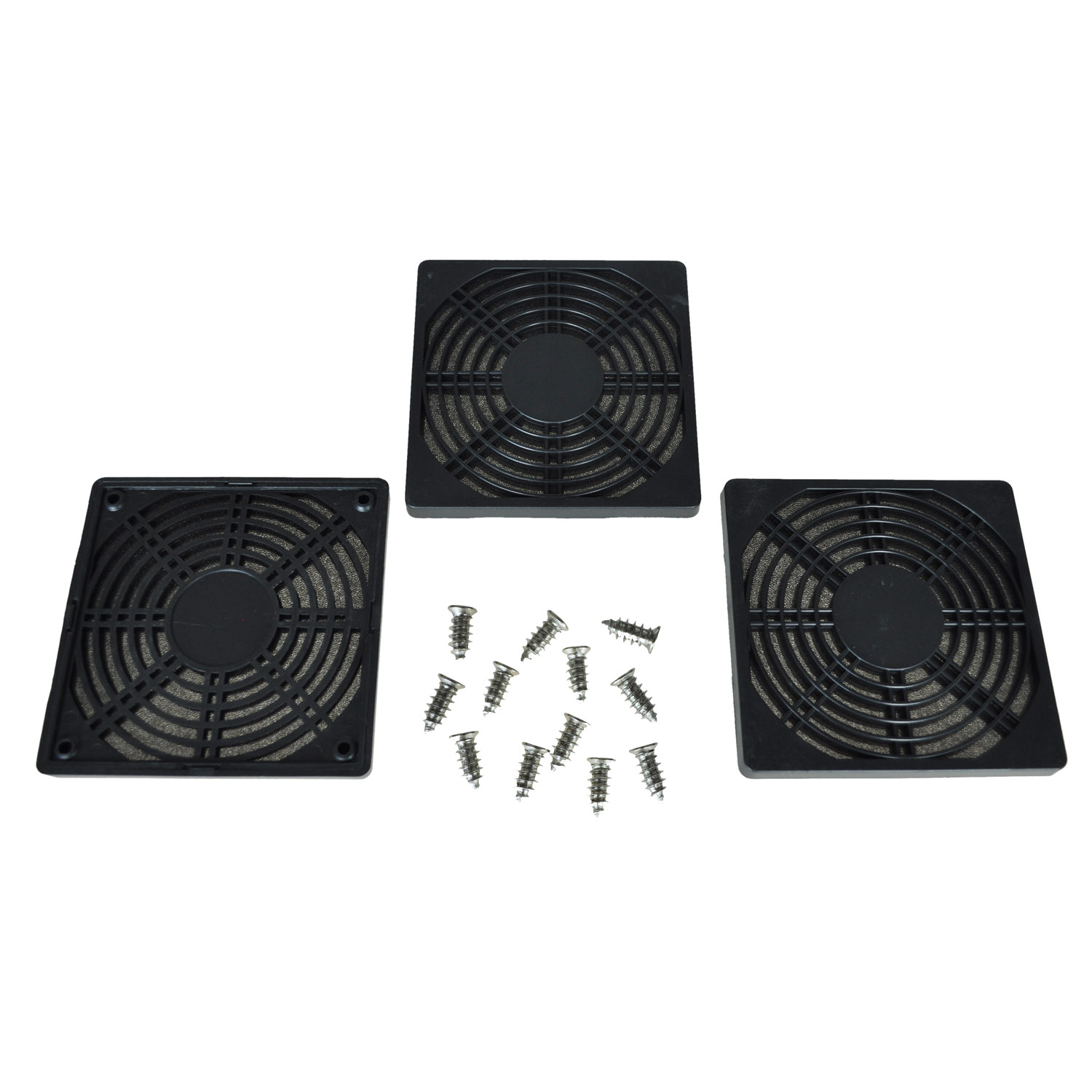 12 pcs Screws <font><b>120</b></font> <font><b>mm</b></font> <font><b>Fan</b></font> Dust Filter Dustproof Screen <font><b>PC</b></font> Computer Case Mesh <font><b>PC</b></font> Case <font><b>Fan</b></font> Dust Sponge Filter Black image