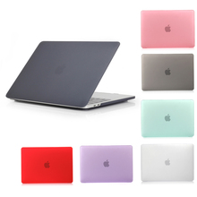 NEW Matte Case For Apple macbook Air Pro Retina 11 12 13 15 inch different colors grey purple green dark red pink yellow black