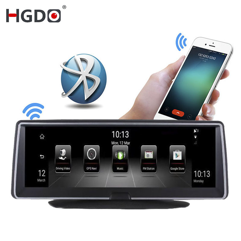 HGDO Car DVR Navigation Dash-Cam Android Video-Recorder Dual-Lens Wifi Bluetooth Full-Hd