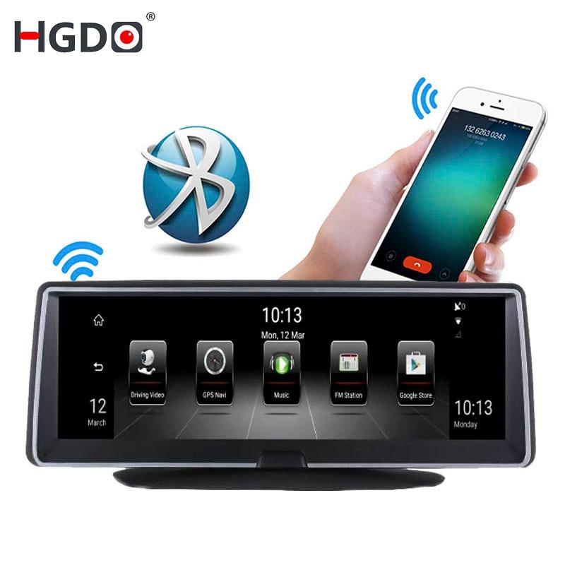 HGDO IPS 8 3g/4g Wifi Voiture DVR Dash Caméra Android 5.0 GPS Navigation Vidéo Enregistreur bluetooth Double Objectif Dash cam Full HD 1080 p