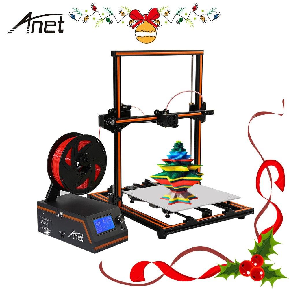 Anet Aluminium E12 E10 Reprap i3 impressora 3D Imprimante DIY Imprimant 3D Kit Gros Caractères Taille Cadeau Filament SD Carte 3D Imprimante