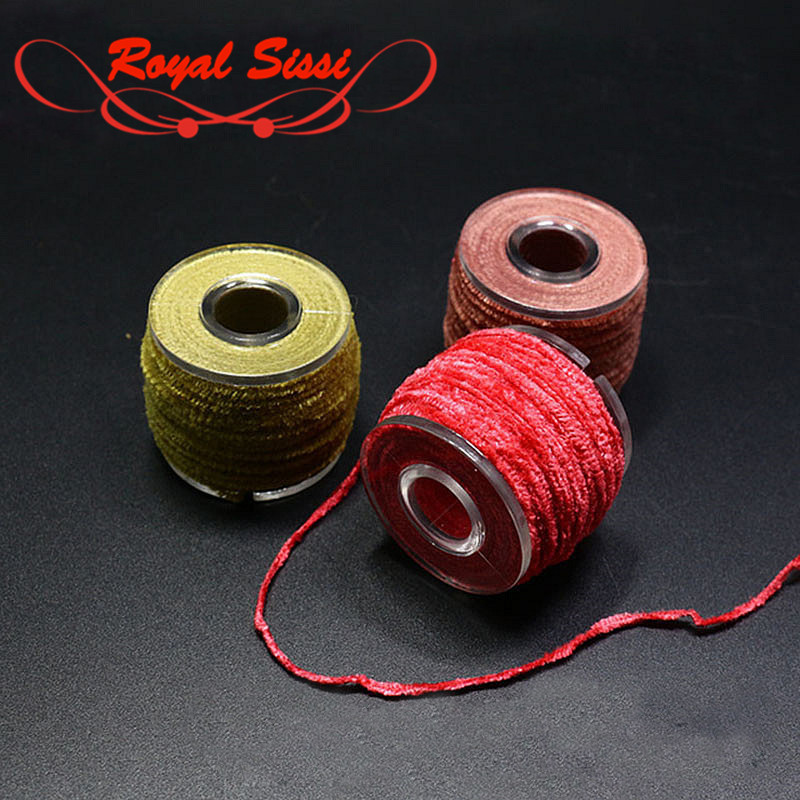 10 couleurs en option bobiné Fil Rayon Chenille 2mm micro-mouche liant fil fluffy streamer / nymphe collier thorax mouche fixant
