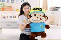 stuffed toy , large 80cm naughty monkey plush toy soft throw pillow ,Christmas gift h242