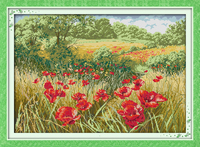 Beautiful Flowers 1 Counted Cross Stitch Diy 11CT 14CT Cross Stitch Set Wholesale Cross Stitch Kits