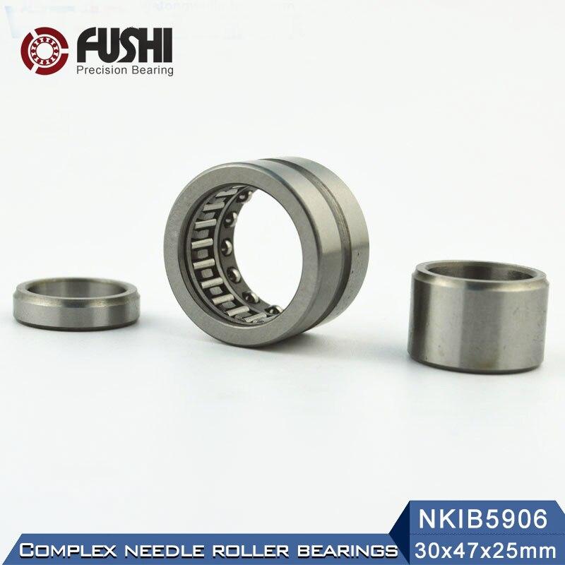 NKIB5906 Complex Bearings 30*47*25mm ( 1 PC) Needle Roller Angular Contact Ball Bearing NATB5906 NATB 5974906NKIB5906 Complex Bearings 30*47*25mm ( 1 PC) Needle Roller Angular Contact Ball Bearing NATB5906 NATB 5974906