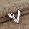 "MQCHUN Jewelry Tv Series Vikings Icon Necklace Vikings ""V""Logo Pendant Ragnar Lodbrok Men Women Birthday Christmas Party Gift"