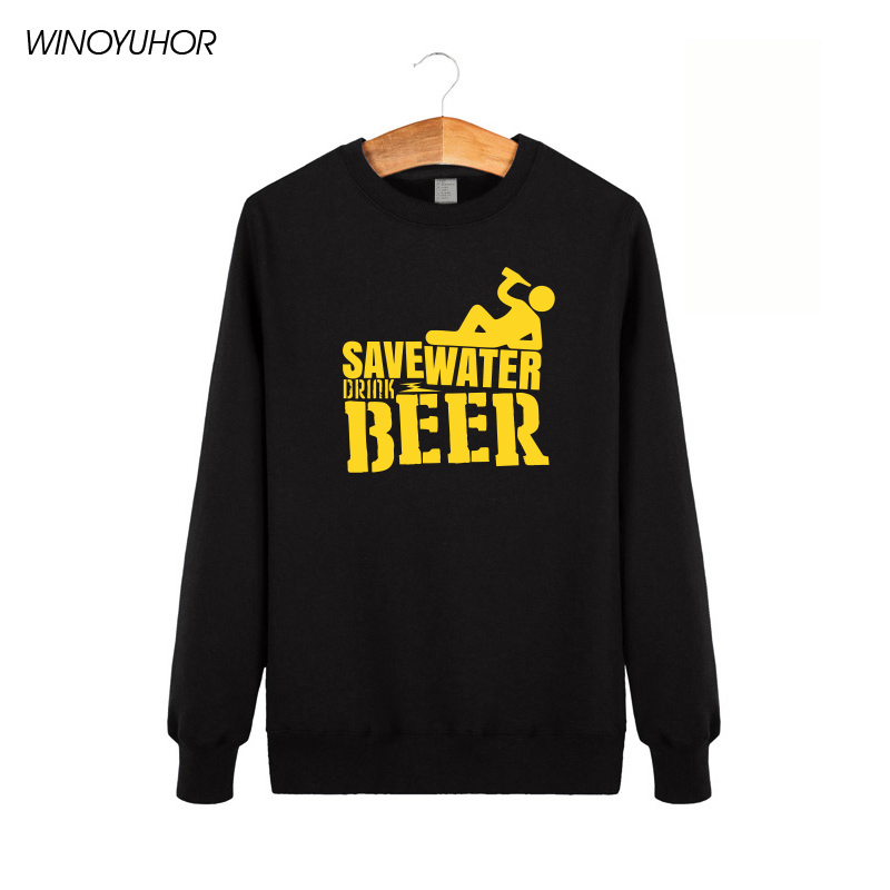 Save Water Drink Beer Mens Hoodies New Arrival Male Sweats Winter Casual Boys Tops Funny Print Men Tracksuits Camisetas